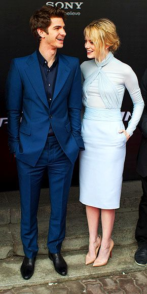 Great couple outfit | Andrew Garfield, Emma Stone