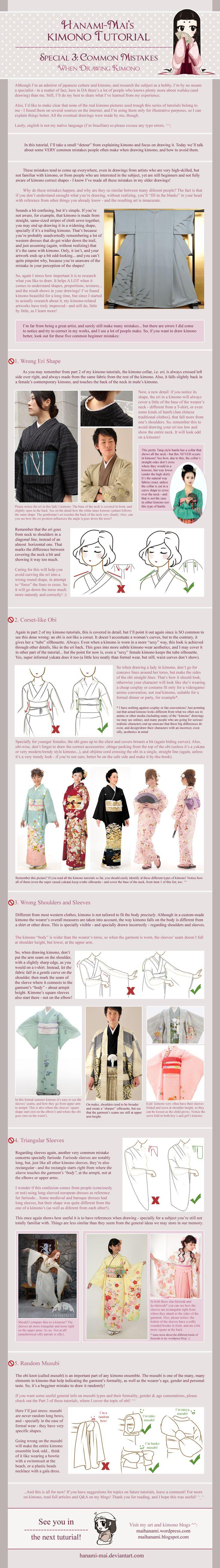 Kimono Tutorial - Drawing Mistakes Special by Hanami-Mai