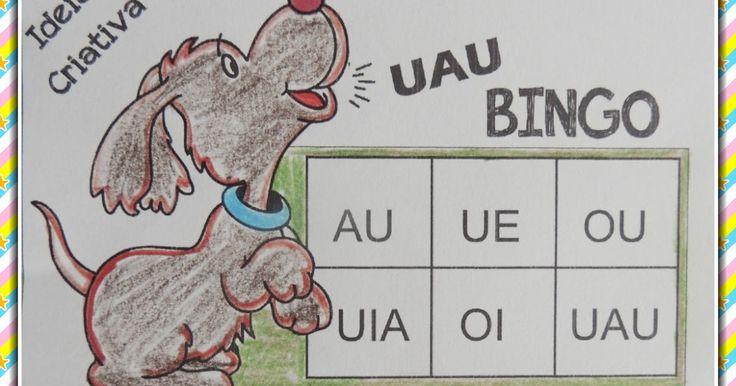 Jogo Bingo de Encontros Vocálicos com Cartelas para Imprimir Grátis