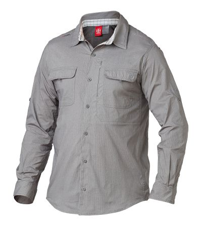 Vigilante - Dilkon Shirt. Loaded with ventilation and patch pockets for storage, this traditional hiking shirt has an added twist with an invisible zipper pocket and a unique contrast inner collar stand.  http://www.vigilante.com.au/product-details.php?product_id=254&q=dilk&by=product