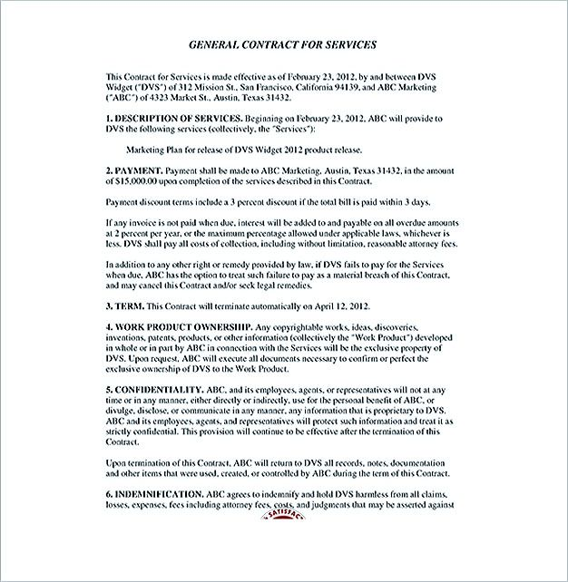Service Contract Template And Important Terms To Write Service Contract Template Is A Written Statement Which Is Neede Contract Template Templates Contract