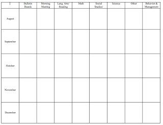 Classroom Freebies Too: Free teacher planning pages
