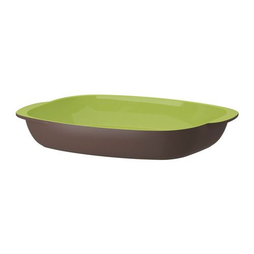 VITLING Oven dish, brown, light green - IKEA