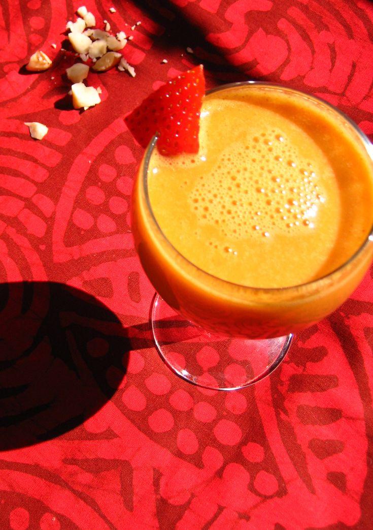 Jus fraise, pomme, carotte, banane, noix du Brésil