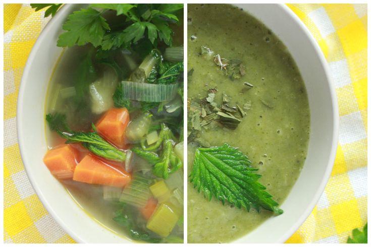 Zupa pokrzywowa - prosta, smaczna i bardzo zdrowa! Dwa proste przepisy: na zupę pokrzywową i warzywną z dodatkiem pokrzyw. Idealna na wiosnę!