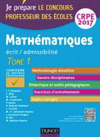 Jean-François Bergeaut et Christophe Billy - Mathématiques écrit / admissibilité tome 1 - Professeur des écoles Concours CRPE.