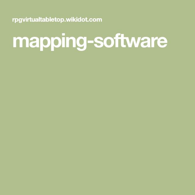 mapping-software