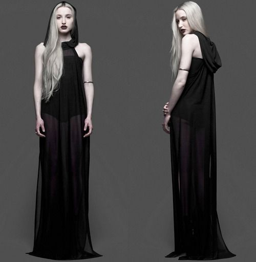 murderotic:  science-for-a-star:  Hooded Maxi Dress by Widow  Ohhhh yes I want this!!!