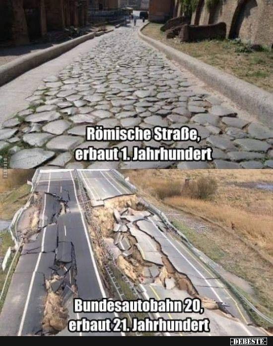 Römische Straße, erbaut 1. Jahrhundert… | Lustige Bilder, Sprüche, Witze, e… – Frank Mehlhaff