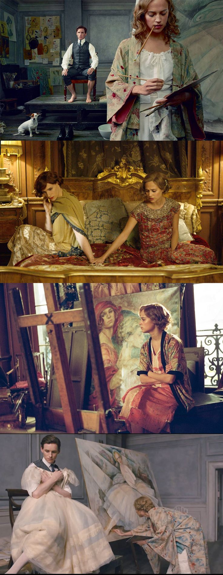 Eddie Redmayne and Alicia Vikander in 'The Danish Girl' (2015). Costume Designer: Paco Delgado