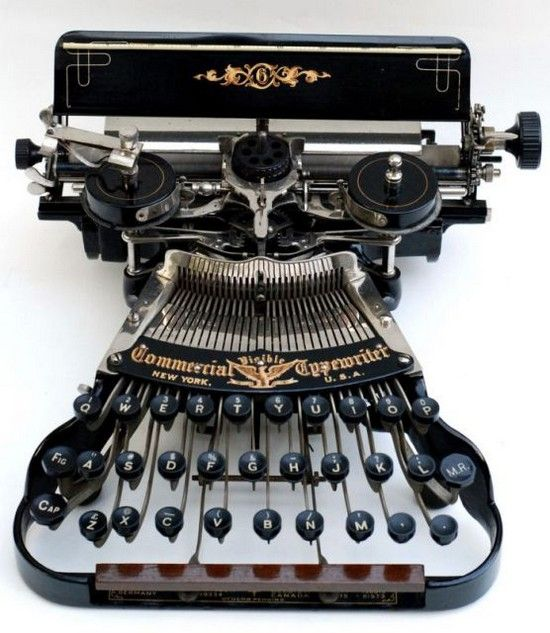 This beautiful typewriter almost looks like a strange musical instrument. I suppose it is.