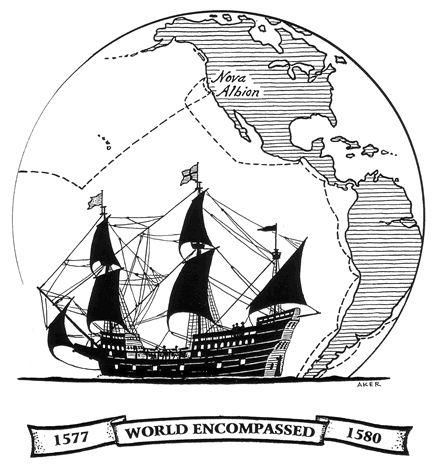 30- Golden Hind.- § F. DRAKE: .. National Historic Landmark; mais de nouvelles découvertes prouveraient que ce lieu serait à Nehalem Bay en Oregon. - TRAVERSEE DU PACIFIQUE ET CONTOURNEMENT DE L'AFRIQUE: Le 23 juillet, le navire quitte la colonie et traverse l'Océan Pacifique. Le 30 septembre, ils arrivent aux îles des Voleurs (actuellement les Iles Mariannes, ou Mariana Islands), le 3 novembre aux Moluques -un groupe d'îles situées au S-O du Pacifique en actuelle Indonésie, où ils peuvent…