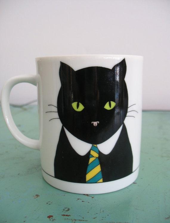 Vintage Cat Mug Dept 56 Cats' Meow Series by SomethingofInterest, $12.00