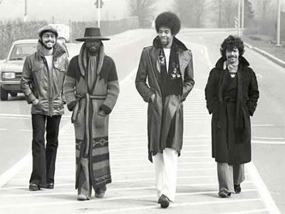 Lenny White, Stanley Clarke, Chick Corea, Al di Meola; Gimme that badass sweater coat.