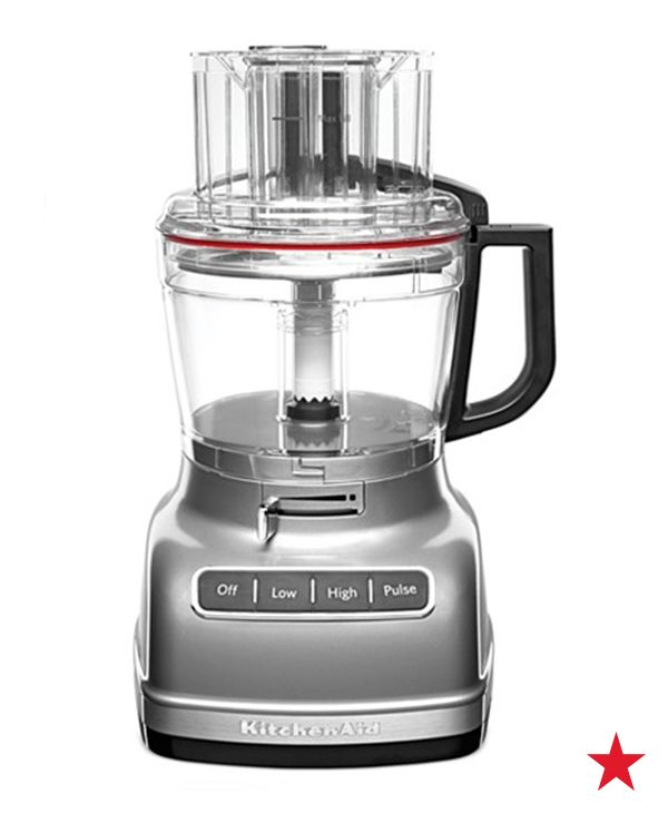 Shread, slice, knead, chop and more with a powerful KitchenAid food processor. An incredible tool for a couple creating their new kitchen together.