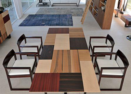 Campiello стол от Morelato, Италия # 5726 Стол, 200х100х73h. Модель: Campiello. Материал: дерево wenge, столешница дерево Ebano Makassar, Noce, Acero, Padouk, Ciliegio, ножки wenge http://kievimport.com/morelato_campiello_stol_.html #table #furniture #design #interior #стол #мебель #дизайн #интерьер #kievimport