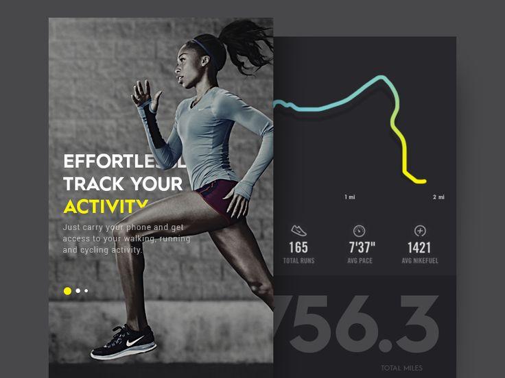 Daily UI #54 - Fitness Tracker by Ranjith Alingal