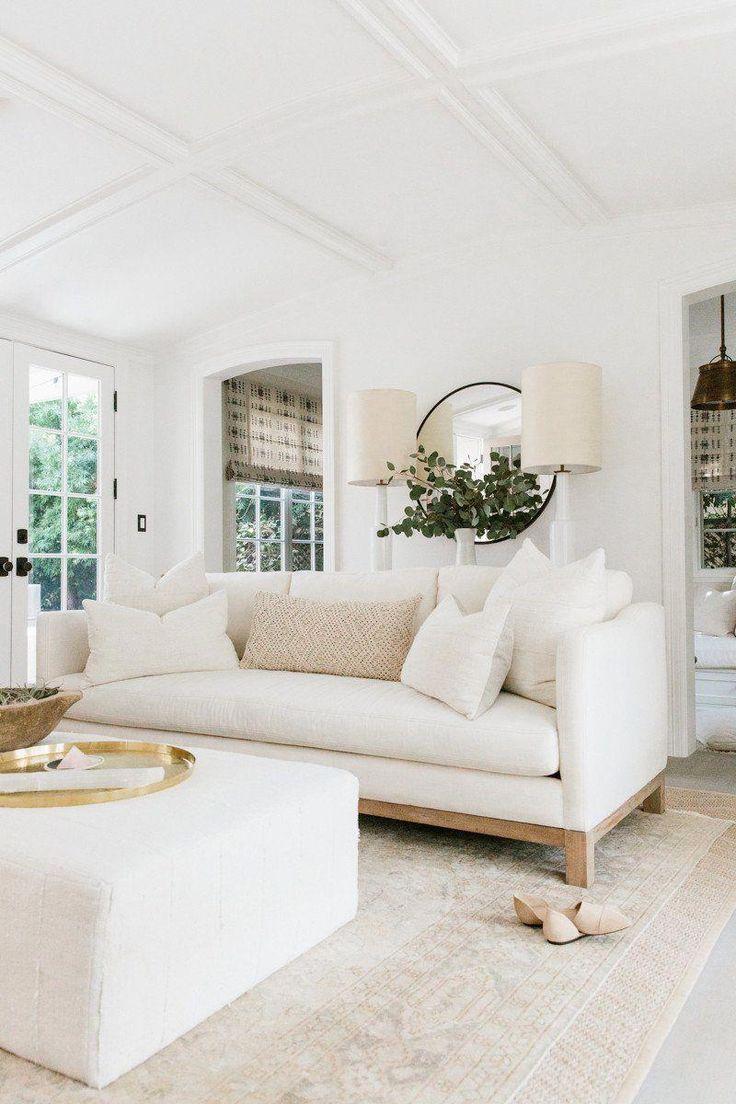 California Modern Farmhouse Interiors Erin Fetherston Understands White Hello Lovely Modern White Living Room White Living Room Decor Farm House Living Room White couches living room ideas