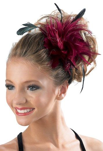 Feather Hair Pouf Clip