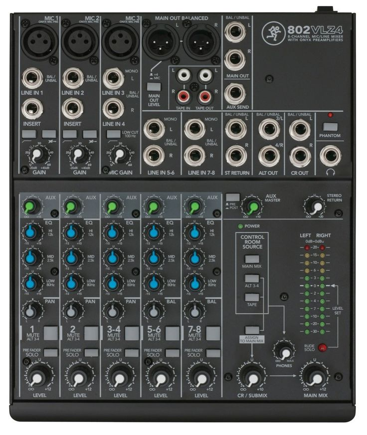 Mackie 802VLZ4 8-Channel Compact Pro Audio Mixer