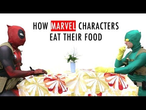 How Marvel Characters Eat Their Food... Make sure you watch till the end if you like Guardians of the Galaxy ;-D