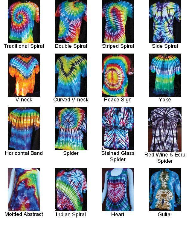 Tie Dye Folding Patterns Example - Bing images - shirts, casual, denim, pink, christmas, grey shirt *ad