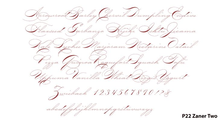 Bowfin Printworks - Script Font Identification - Antique Handwriting - Type Samples