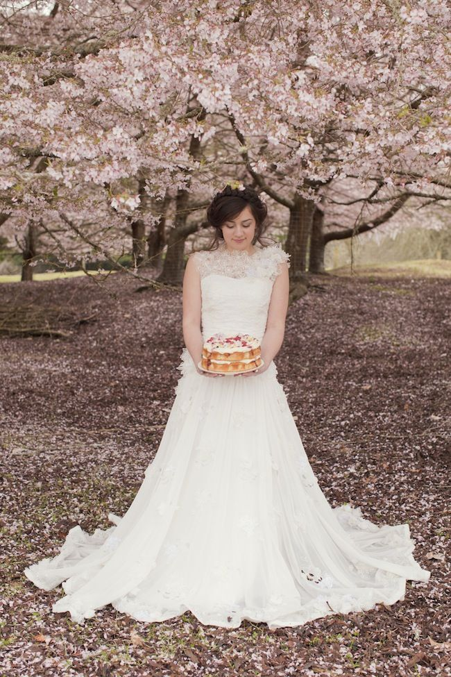 Truly & Madly Blog | Beautiful cherry spring blossom styled shoot by Bespoke Photography