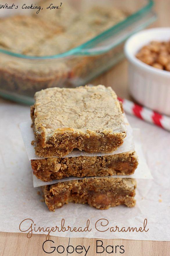 Gingerbread Caramel Gooey Bars
