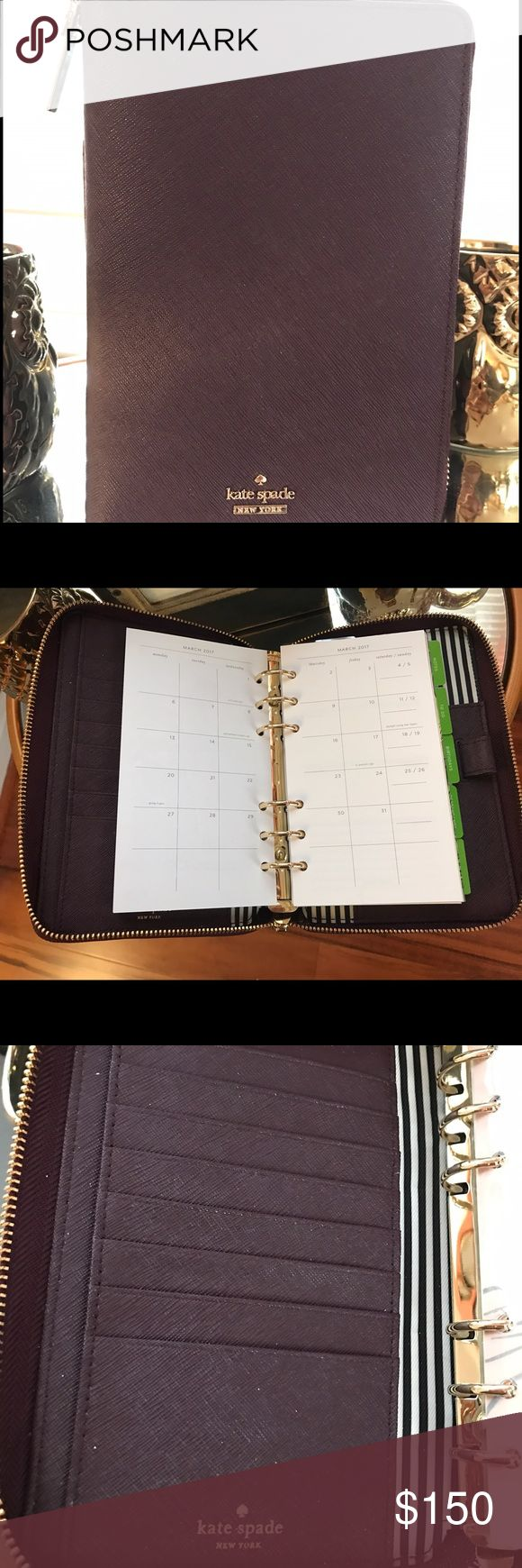 Kate Spade Cameron Street Agenda Almost brand new mahogany Cameron Street Planner. Only used for a month and will include all remaining 2016 and 2017 inserts.  US buyers only (no international shipping).  Cameron Street agendas are new as of 2016. kate spade Other