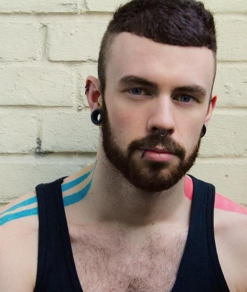 Stretched Ears And Beards So Nice Piercing Body Art