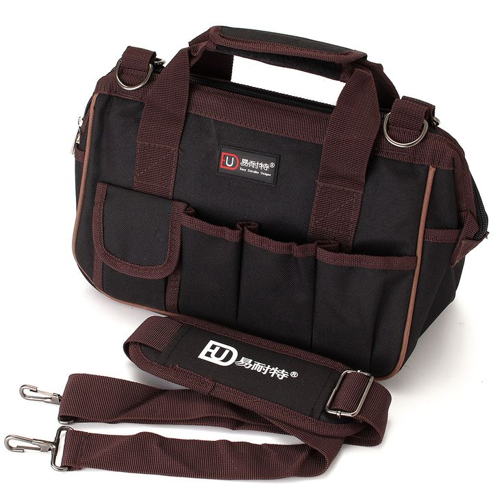 Tela de Oxford múltiples funtional kit de herramientas de hardware correa de hombro mochila bolsa de herramientas