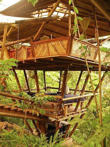 Bamboo Tree House. . . I NEED IT!!!!!