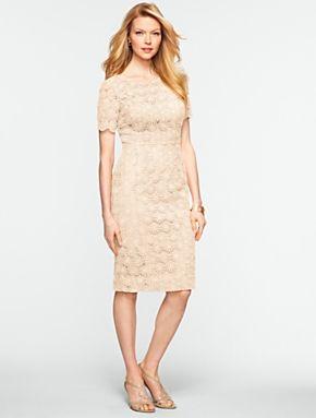 Talbots geo lace dress dresses misses wedding for Talbots dresses for weddings