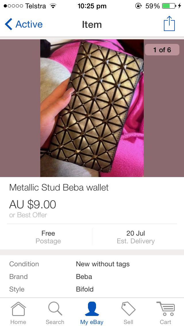 Stud wallet, available on eBay.