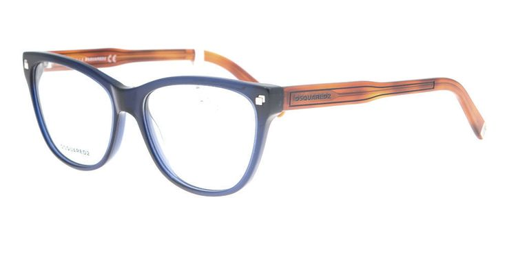 192.95$  Watch here - http://vimvu.justgood.pw/vig/item.php?t=423q7c21723 - Nouveau original lunettes Dsquared DQ 5203 020 femmes Blue Cat-eye 192.95$