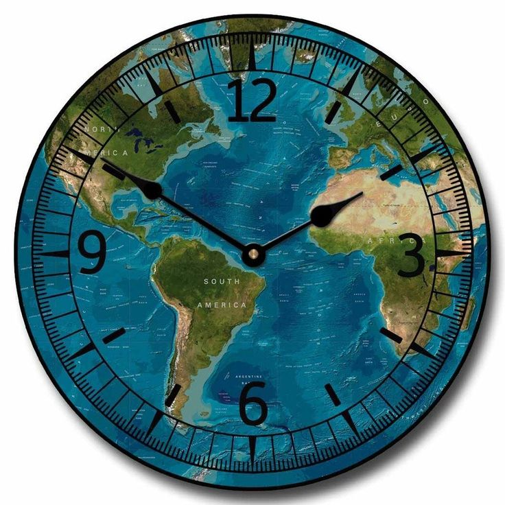 27 best world map clocks images on pinterest world maps wall tropical world map clock gumiabroncs Choice Image
