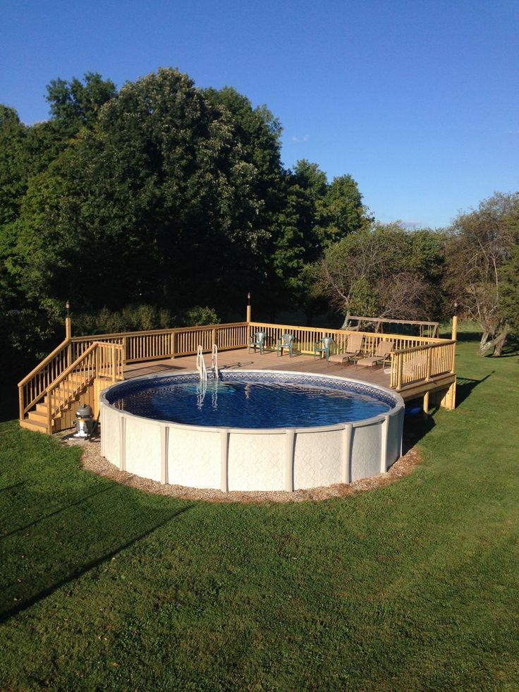 25 best ideas about above ground pool on pinterest - Best pool designs ...