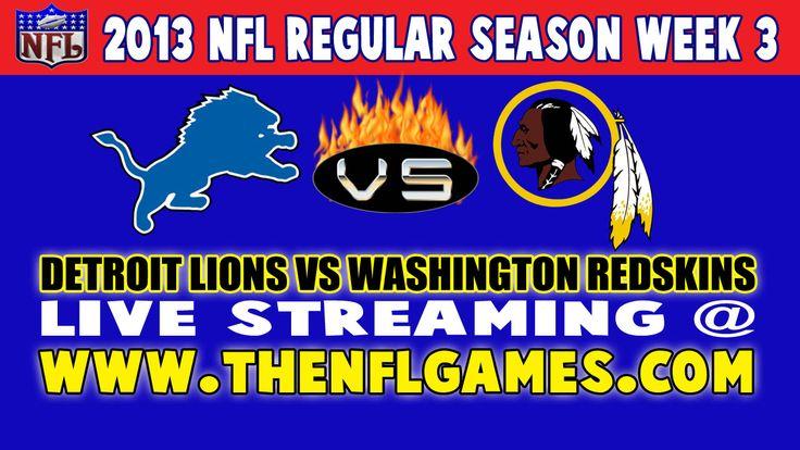 Detroit Lions vs Washington Redskins Live Streaming