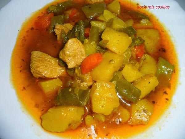 GUISO DE PATATAS CON CARNE DE POLLO Y JUDIAS VERDES,   Cocinar en casa es facilisimo.com