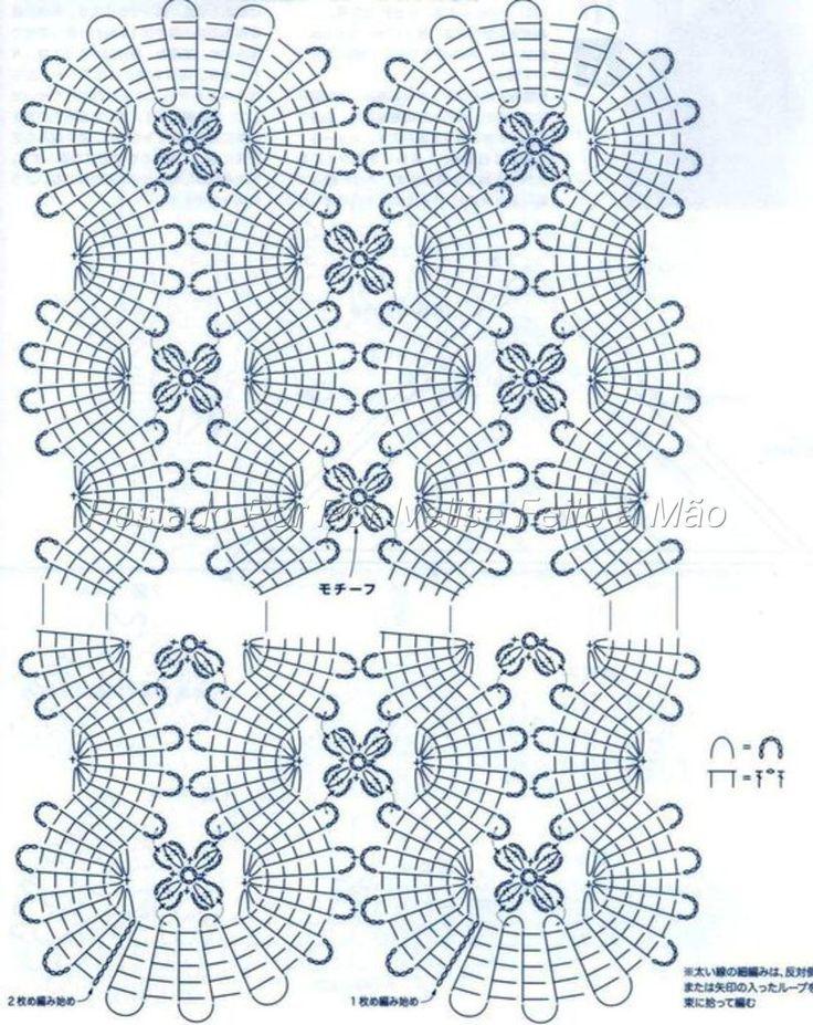 stole - Bruges Lace - diagram 2