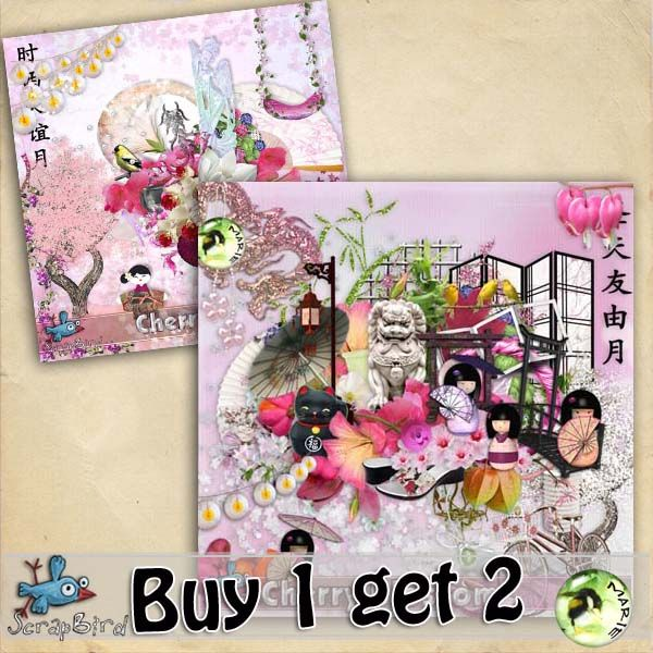 Cherry Blossom BUY 1 GET 2 by Marie