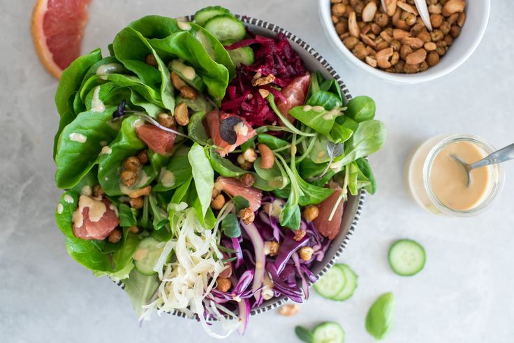 Hearty Nut & Chickpea Salad