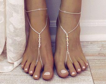 MInimalist Barefoot Sandals Gold Anklet Golden Foot by BareSandals