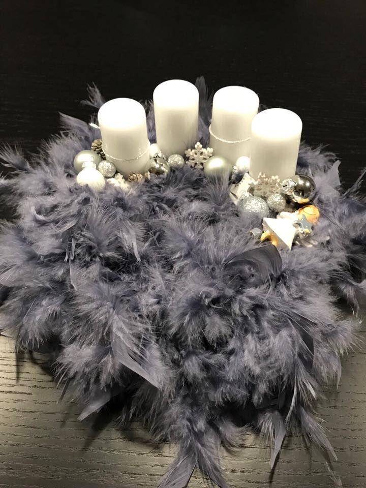 A szürke ötven árnyalata   / advent   karácsony  koszorú  gyertya  egyedi  saját készítésű  ünnep  angyal  hópehely  toll /