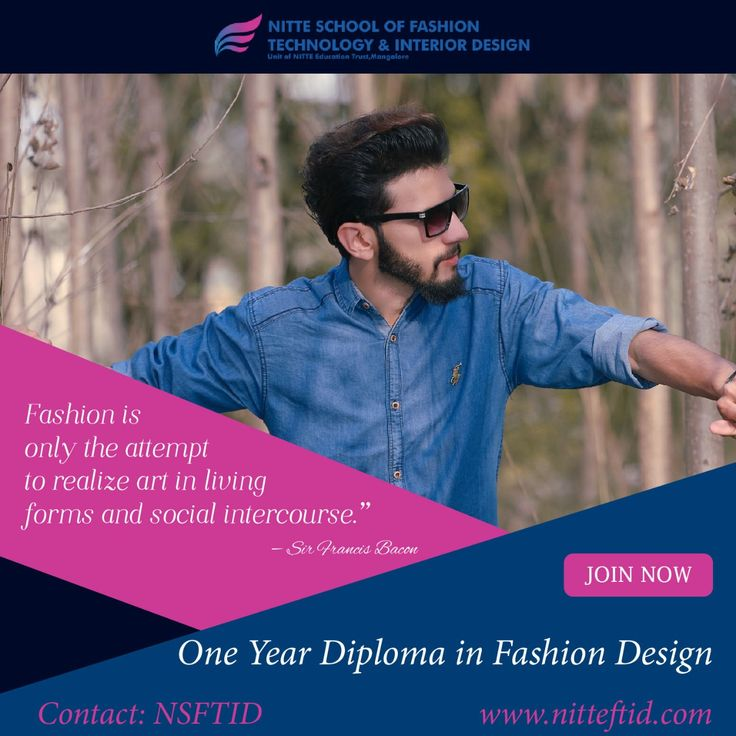 Hit ♥️to fabulous quotes and start your dream career in fashion  design and be trendy@ NITTE School of Fashion Technology & Interior Design. For more details visit us https://goo.gl/7zxRWz  #Bangalore #Fashiondesign #Menfashion #Stylish #Trendy