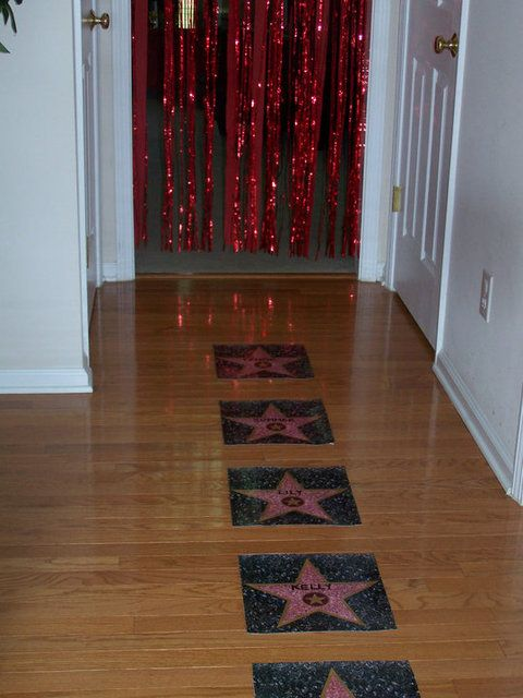 """Runway party: fun idea to give each girl their own """"star"""" on the catwalk or runway"""