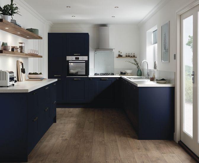 fairford navy shaker kitchens howdens joinery black. Black Bedroom Furniture Sets. Home Design Ideas