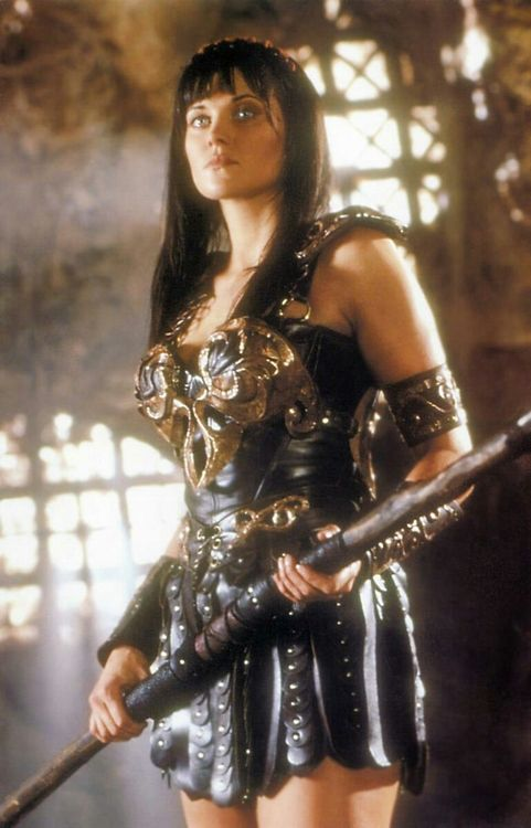 """Lucy Lawless as Xena in the TV series """"Xena: Warrior Princess"""""""