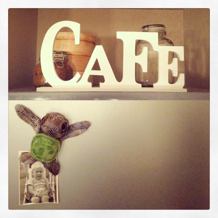 Sho's #Cafe #kitchen #decoration ontop of our Fridge